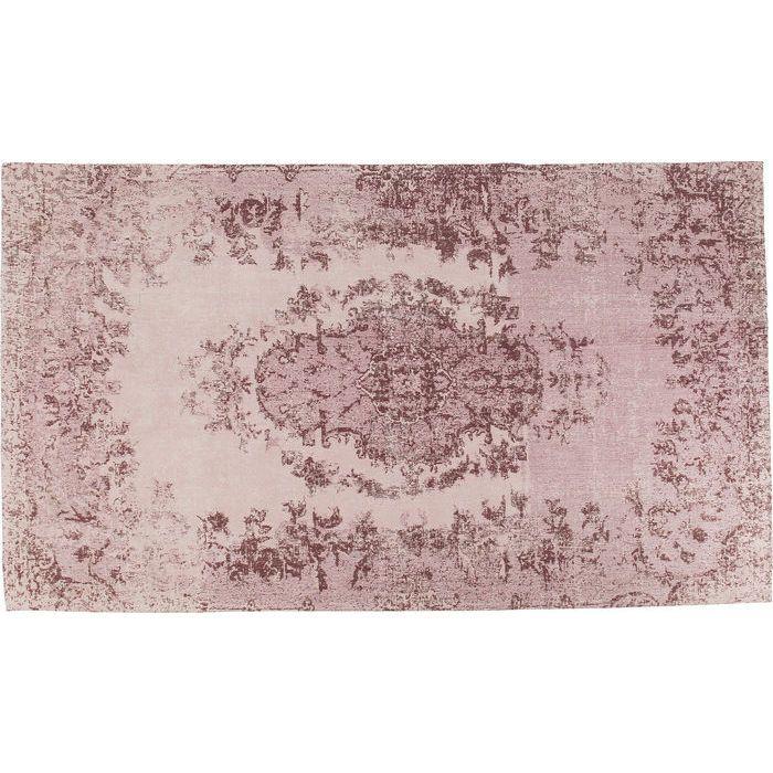 En puderrosa matta med vackert diskret ornamentmönster - från Wohnzimmer webshop