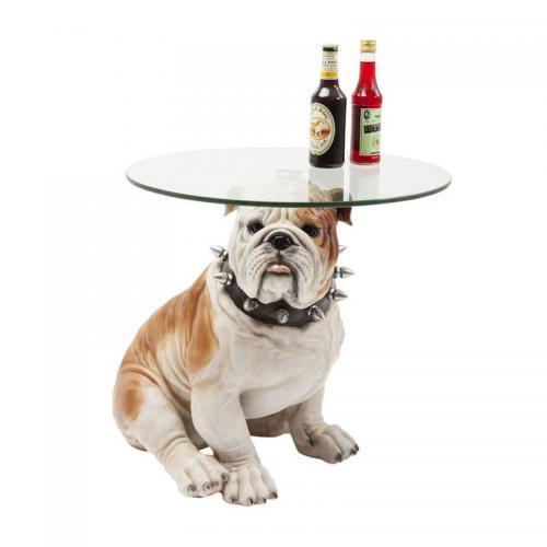 Sidobord Bulldog Glas