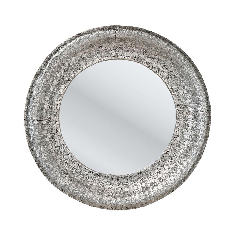 spegel med vacker silverram