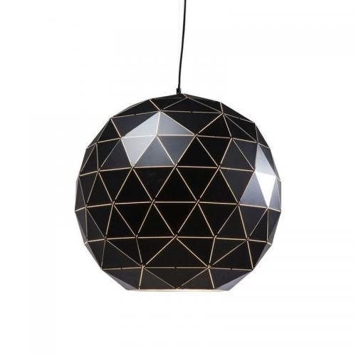 Taklampa Glob svart 60 cm