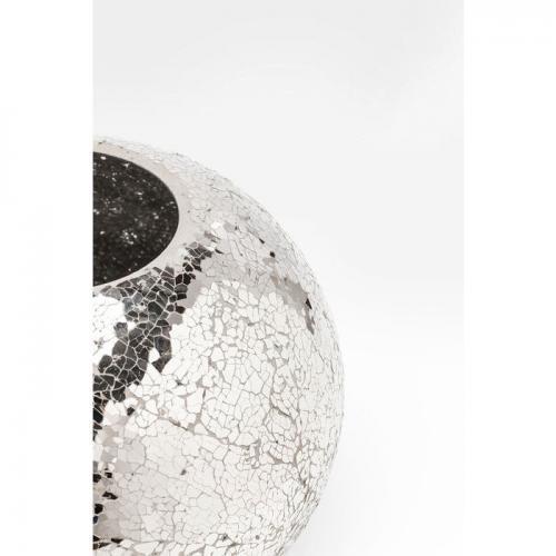 Vas Mosaik Rund silver