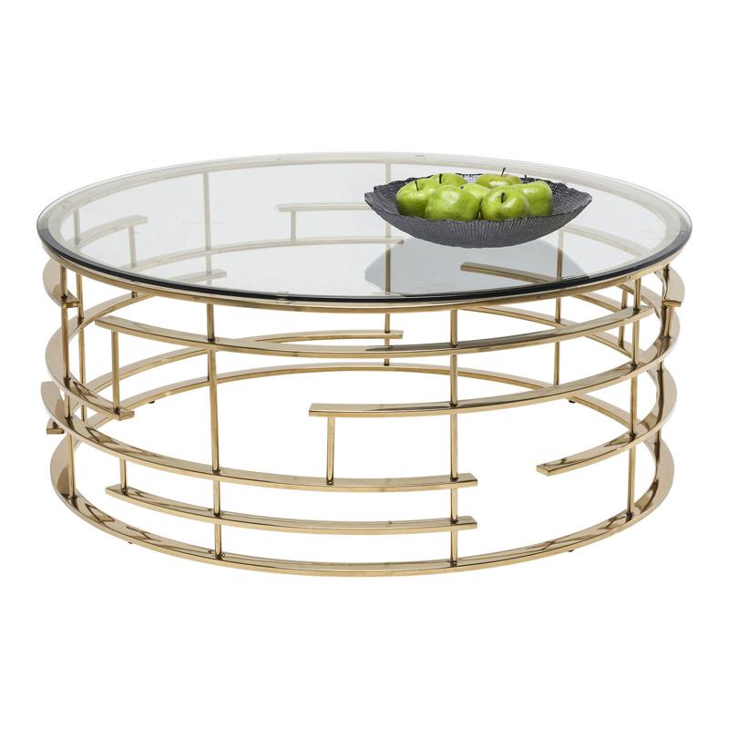 soffbord glas guld