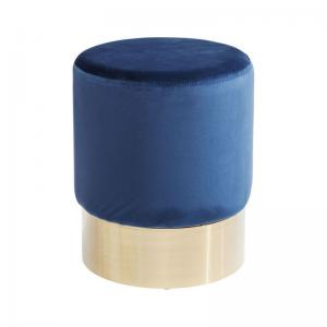 Sittpuff |pall Blå sammet