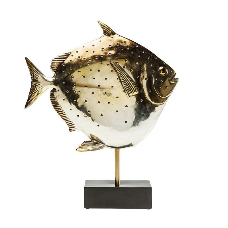Dekor Skulptur Guldfisk