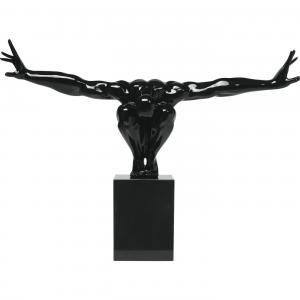 Skulptur Atlet svart 75 cm