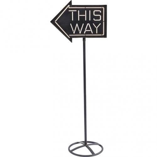Golvlampa |Skylt This way