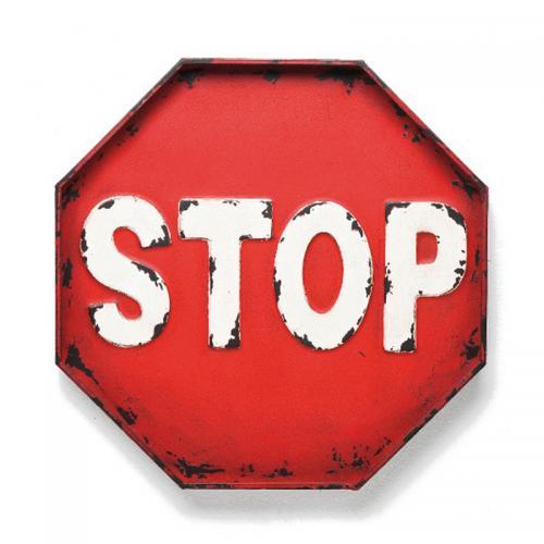 Skylt   Väggdekor Stop