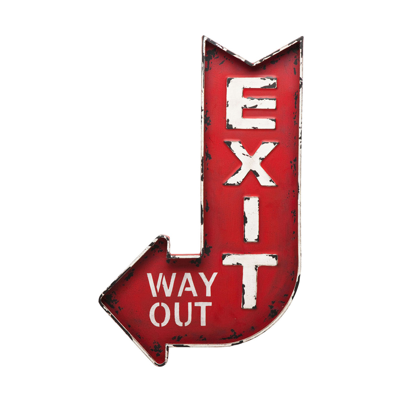 Skylt | Väggdekor Exit