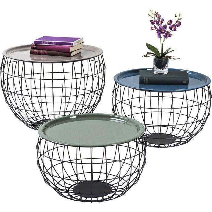 Soffbord Three Globes, runda satsbord