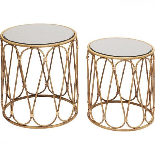 Sidobord Bambu 2-set