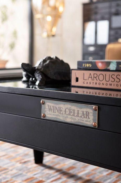 Annorlunda soffbord i vintagestil med dold förvaring