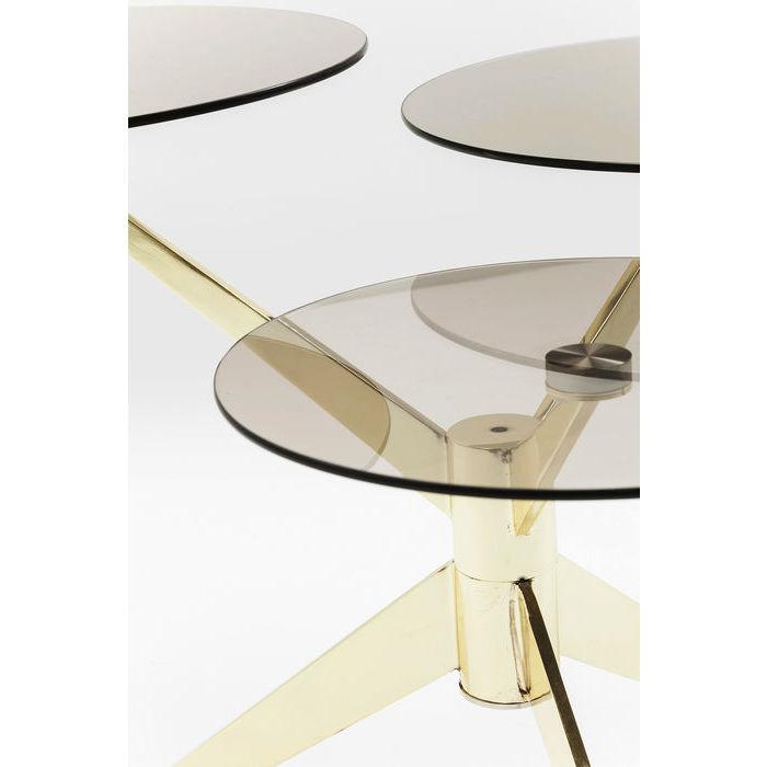 Soffbord Bonsai, glas och guld