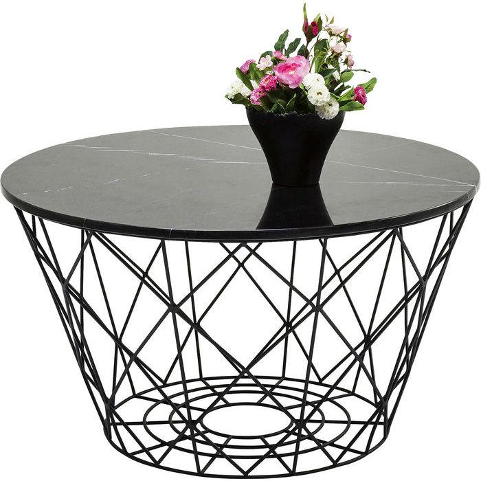 soffbord tre runda i marmor. Black Bedroom Furniture Sets. Home Design Ideas