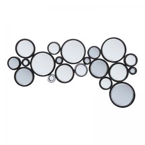 Spegel Circles Black 120 cm