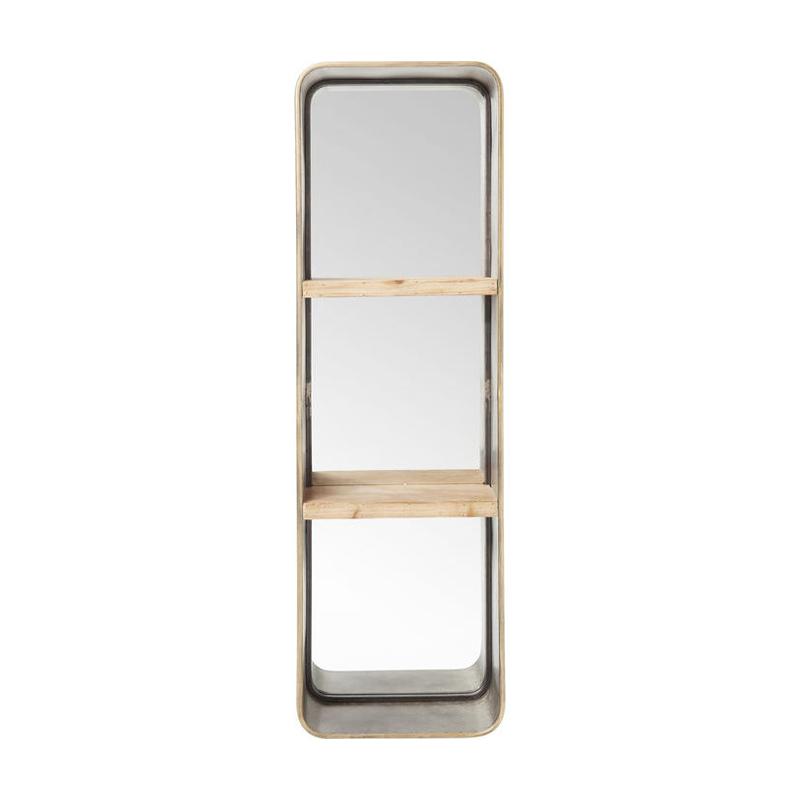 Spegel Stål med hyllor 120 cm