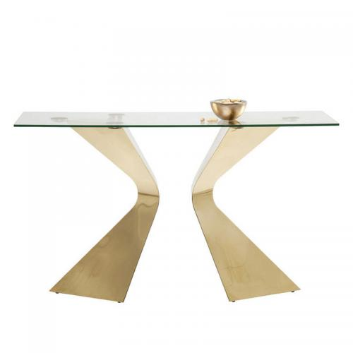 Konsolbord Grace Glas guld