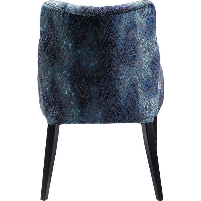 En mycket elegant matstol eller mötesstol med klädd sits och rygg