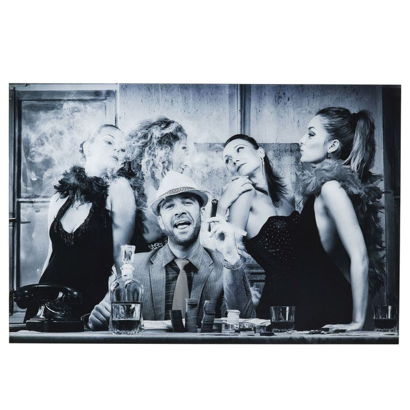 Glastavla Gambler 100x150 cm