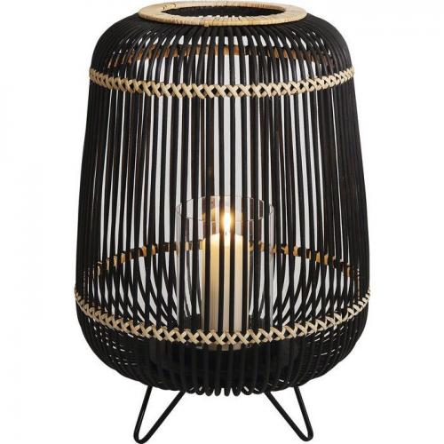 Ljuslykta Bambu svart 42 cm
