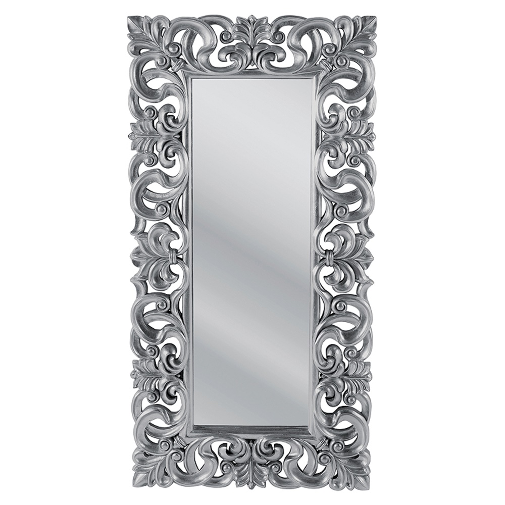 stor silver spegel