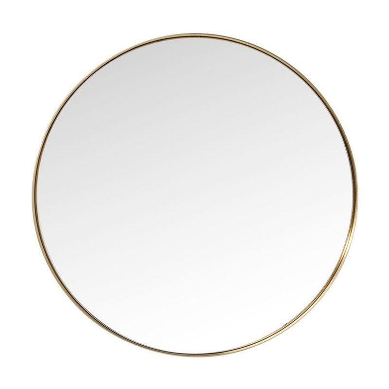 Rund Spegel Clean, mässing 100 cmØ