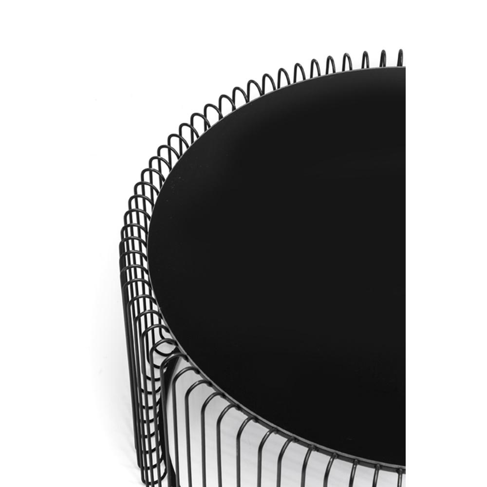 Soffbord Wire Svart, 2 set