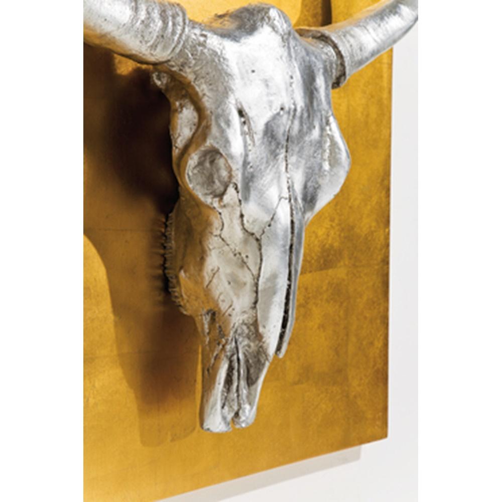 Tavla skulptur bison 80x80
