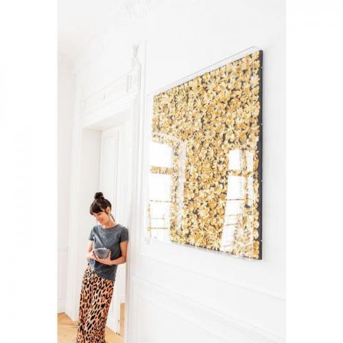 Tavla Guld i Plexi 120x120