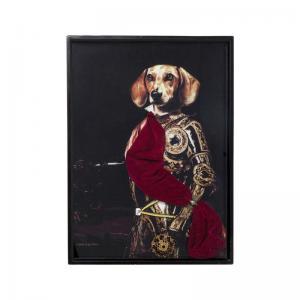 En charmig tavla av kunglig hund.