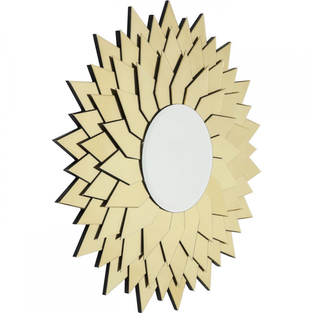 Solspegel med ram helt i spegelglas - wohnzimmer