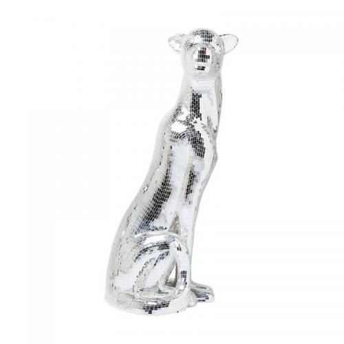Skulptur Panther Silver XL, left