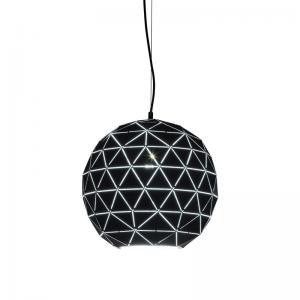 Taklampa Glob svart 40 cm