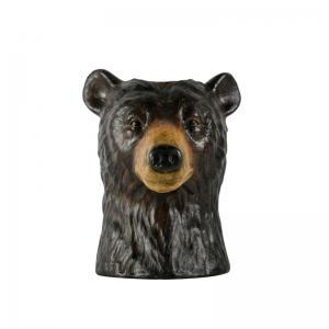 Björn Vas, vas i form av ett björn huvud. Mått: höjd 28 x diameter ca 23 cm.