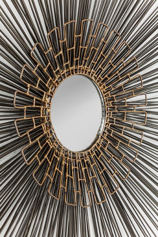 En unik spegel med effektfull dekor - Wohnzimmer.se