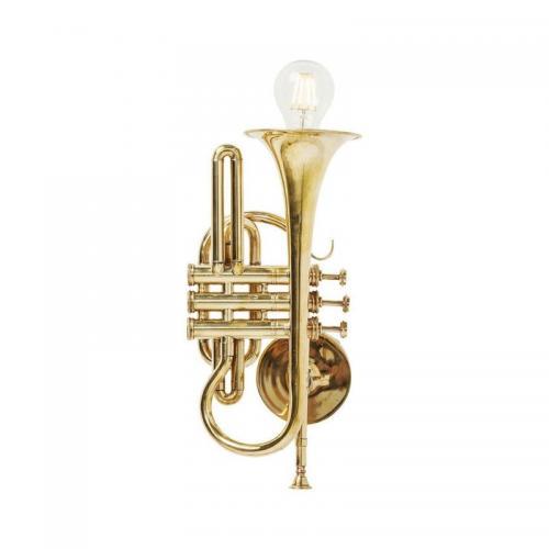 Vägglampa Trumpet mässing