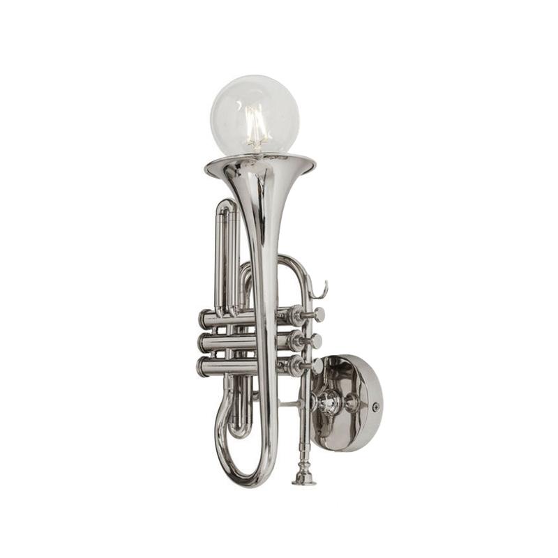 Vägglampa Trumpet silver