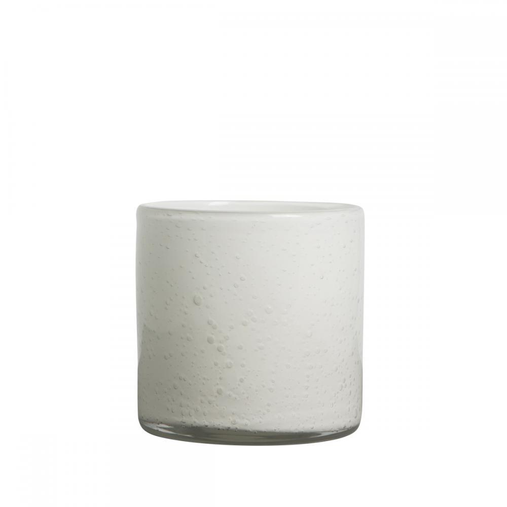 Ljuslykta Stämning Vit Glas 15 cm