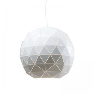 Taklampa Glob vit 60 cm
