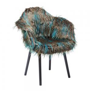 Stol Fur Fashion   blå