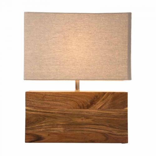 Bordslampa Wood, rektangulär