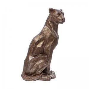 Skulptur Vildkatt Koppar