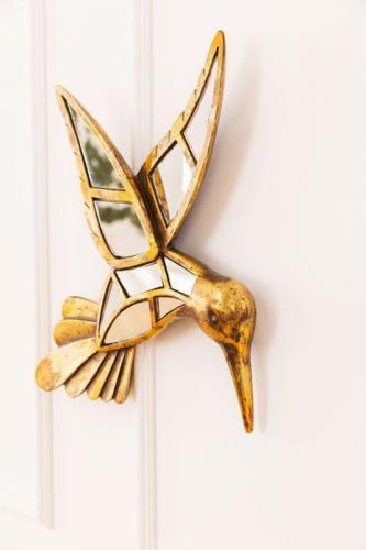 Väggdekoration Guldfågel