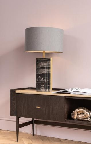 Bordslampa Block, svart marmor