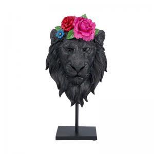 Skulptur Lejon i Blom