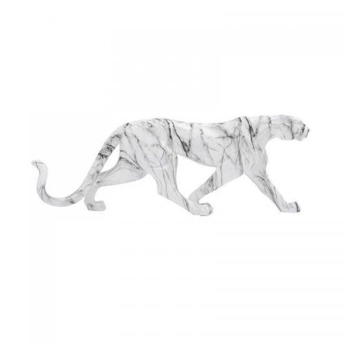 Skulptur Leopard, marmor 95 cm