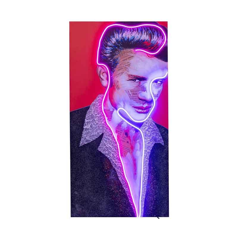 Cool tavla med James Dean i neon - för dig som söker personlig inredning.
