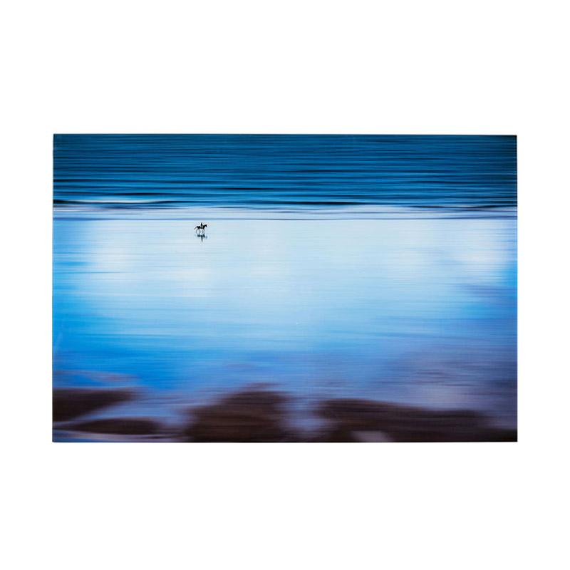 Glastavla Lonely Beach, 80x120 cm