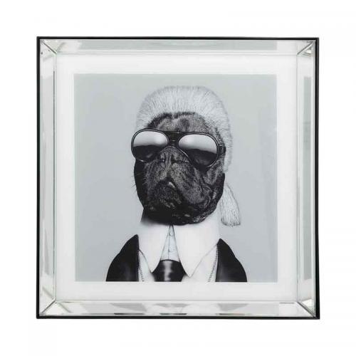 Tavla Karl, spegelram 60x60 cm