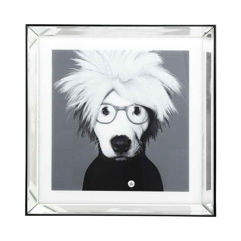 Tavla Andy, spegelram 60x60 cm