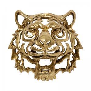 Väggdekor Tiger, guld